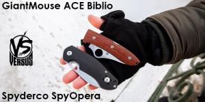 Версус. GiantMouse ACE Biblio vs Spyderco SpyOpera