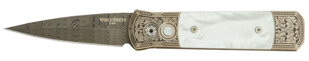 Pro-Tech Godson Ultimate Custom Bottega Incisioni Damascus