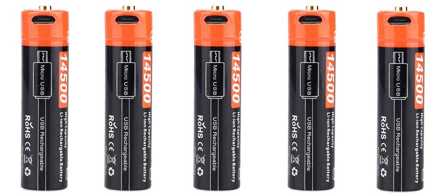 Аккумулятор FiTorch 14500 Li-ion 750mAh USB