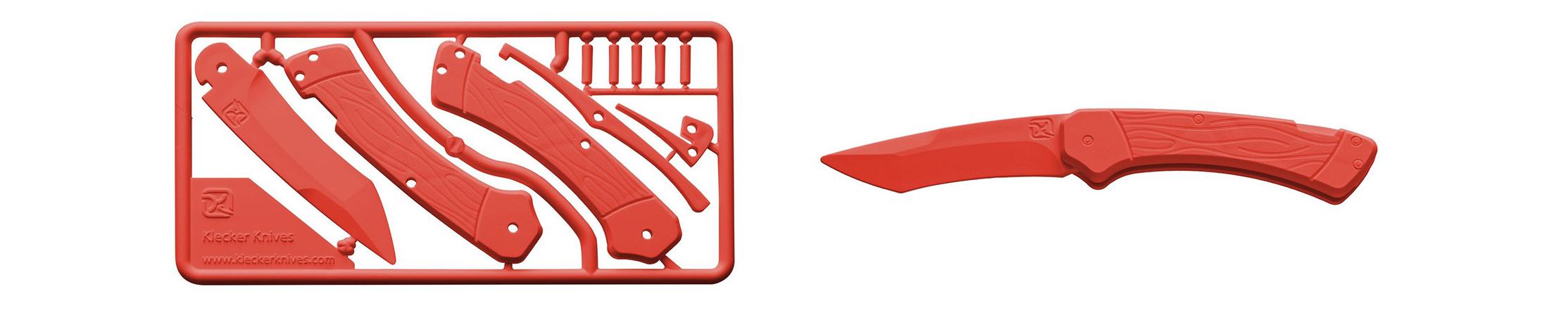 Klecker Trigger Knife Kit Red