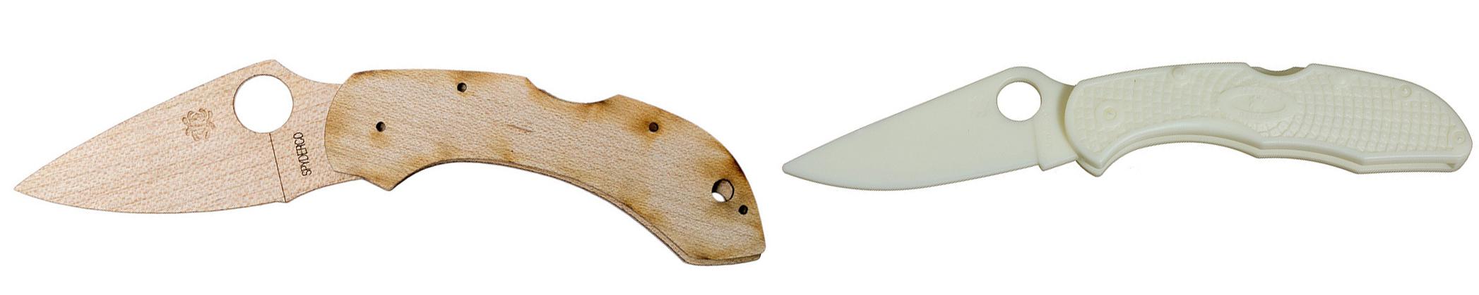 Spyderco Dragonfly и Spyderco Plastic kit Delica 4
