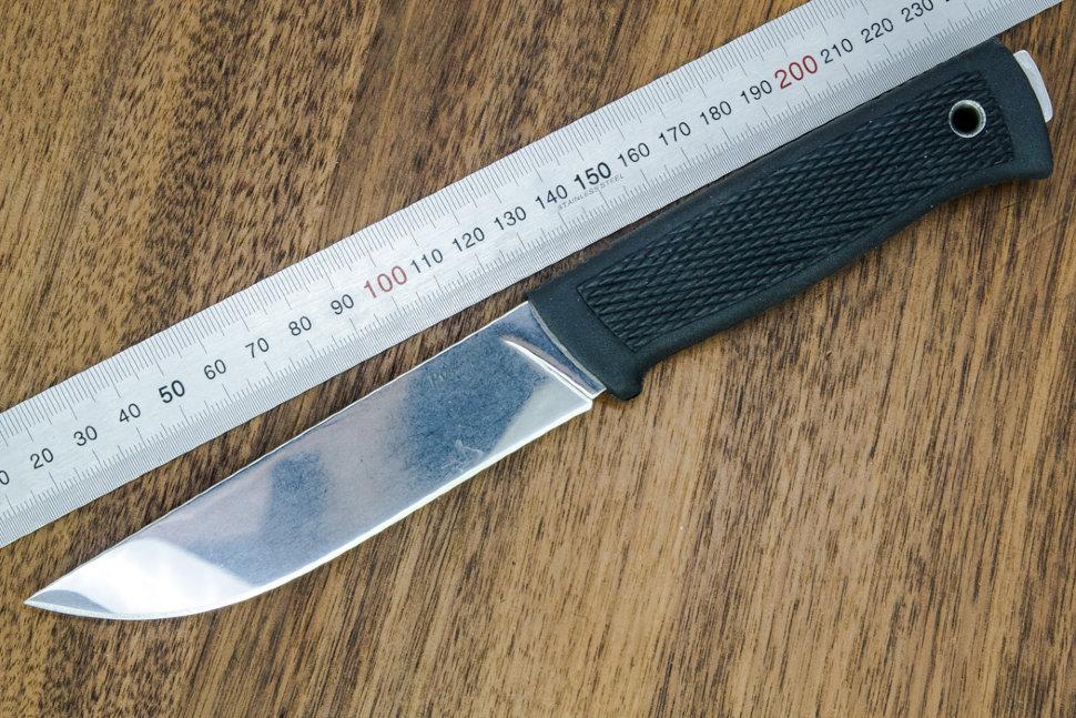 Нож Руз полированный 011305 из стали AUS-8, рукоять резина
