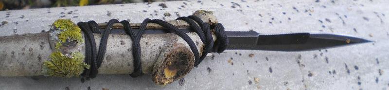Принцип установки клинка в древко