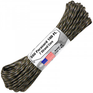Паракорд Atwoodrope 550 Parachute Cord infiltrate 30м (США)