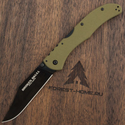 Нож Cold Steel 54S3A Broken Skull IV OD Green сталь S35VN рукоять G10