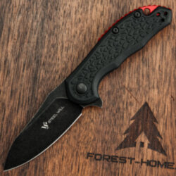 Нож складной Steel Will Modus Mini Blackwash сталь D2 рук. Black FRN/Red spacer (F25M-18)