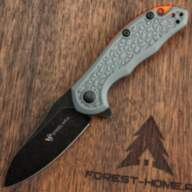 Складной нож Steel Will Modus Mini Blackwash сталь D2, рукоять Grey FRN/Orange spacer