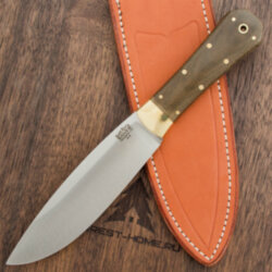 Нож Bark River Mini Rogue Green Canvas Micarta сталь A-2